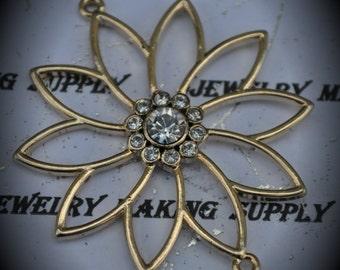 Gold Plated Genuine Swarovski Crystal Connector Pendant