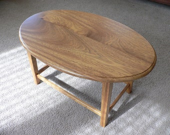 Handcrafted exotic hardwood end table