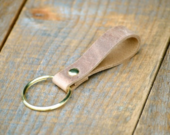 Simple Handmade Acorn Leather Keychain
