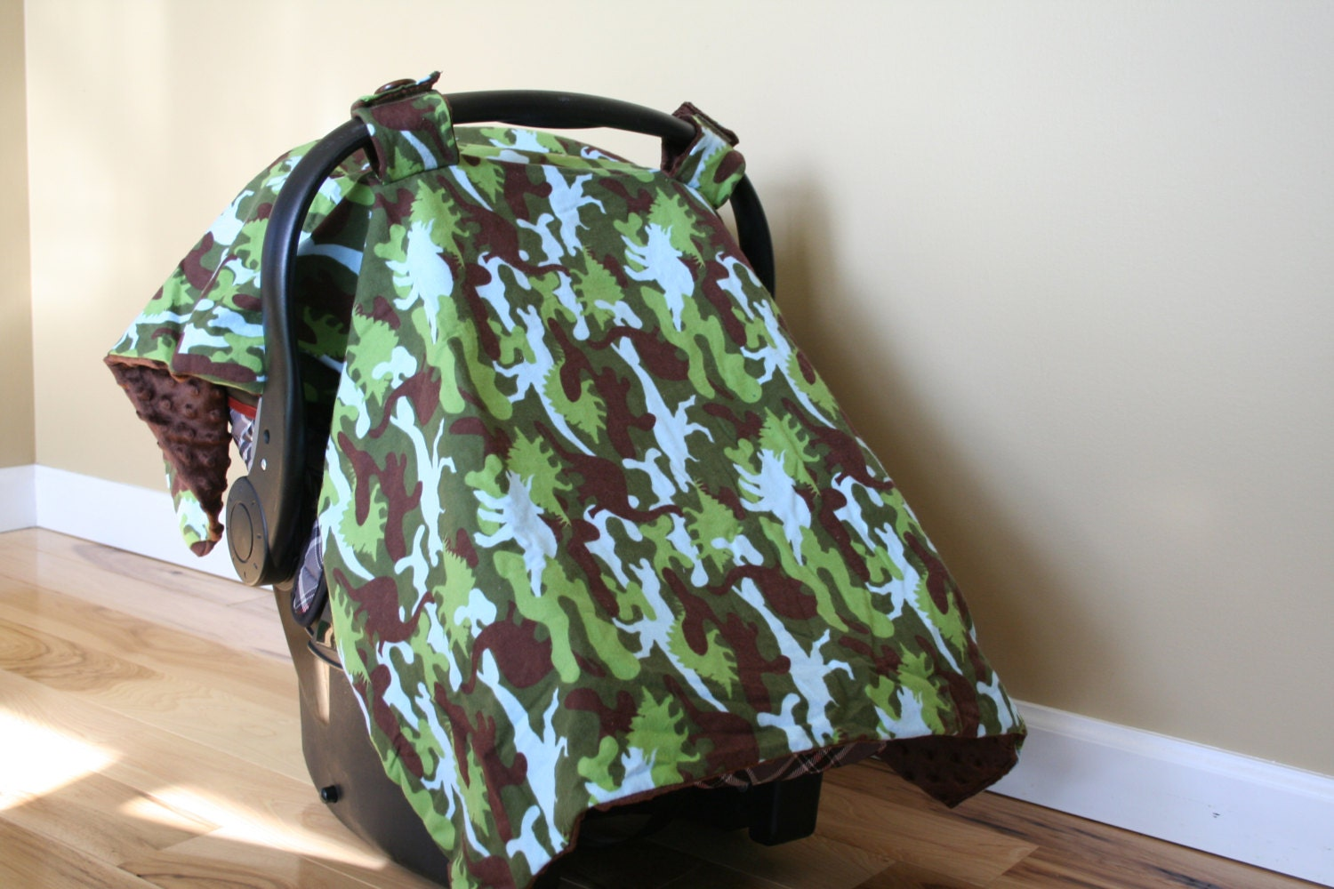 dinosaur camouflage car seat cover canopy. Black Bedroom Furniture Sets. Home Design Ideas