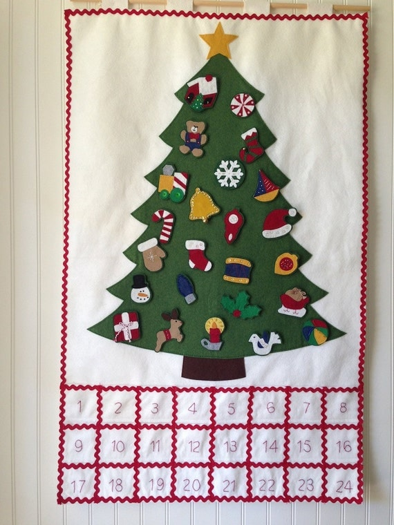 handmade advent calendar wool felt advent calendar