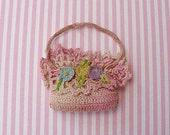 "Sweet Tiny Crochet ""Purse"" Sachet-Great for Doll's Purse"