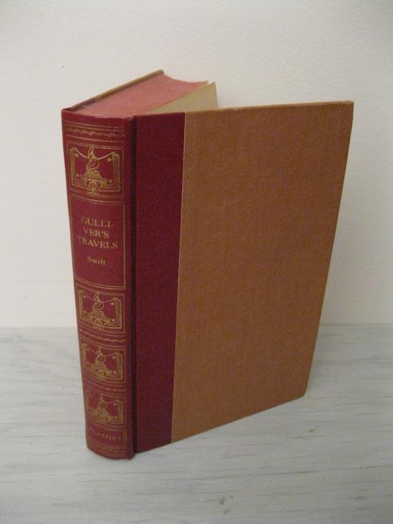 Vintage Children's Book - Gulliver's Travels by Jonathon Swift - Illustrated - 1946 - Adventure Novel