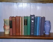 Colorful Vintage Book Stack 12 Book Collection Instant Library Photo Props Rainbow Colors Book Shelf Decor Home Decorating Wedding Decor