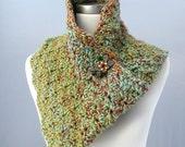 Hand crochet mobius in garden colors