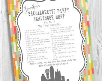 Dallas Bachelorette Party Scavenger Hunt