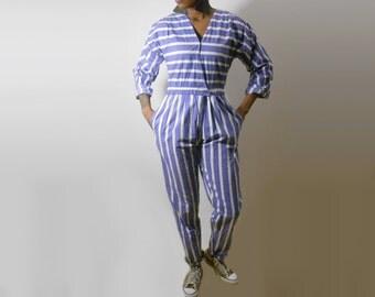 90s Romper/ Jumpsuit/ 90s Jumpsuit/ Purple Jumpsuit/ Womens Romper/ 80s Jumpsuit/ 80s Romper/ Playsuit/ Pastel Goth/ Womens Jumpsuit