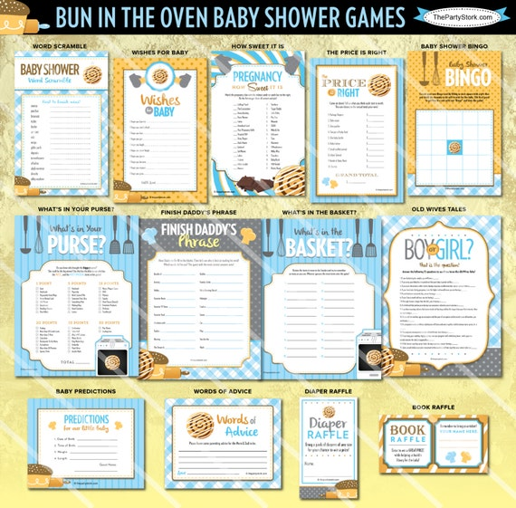 bun in the oven baby shower games baby boy shower games printable