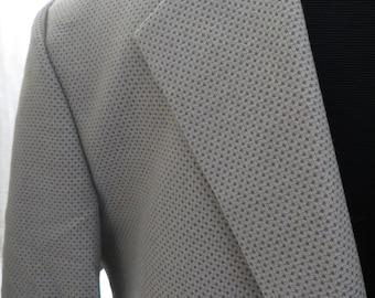 Vintage mens 80s sport coat sportsjacket taupe beige brown two button blazer suit jacket