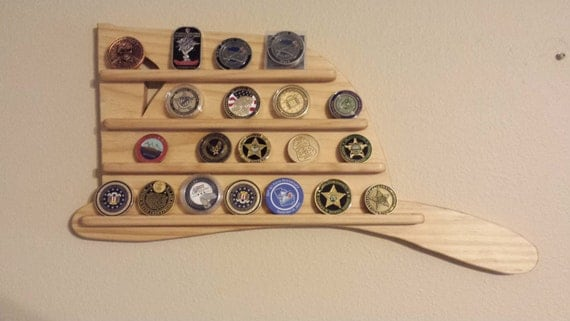 wall hanging firefighter helmet challenge coin holder wood