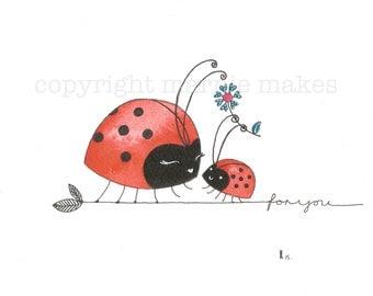 Ladybird Ladybird - giclee print