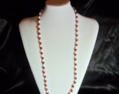 "Red and White 30"" Necklace"