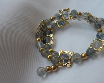 Golden Blue Bracelet