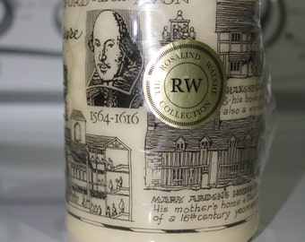Shakespeare Pillar Candle, Rosalind Walshe Collection