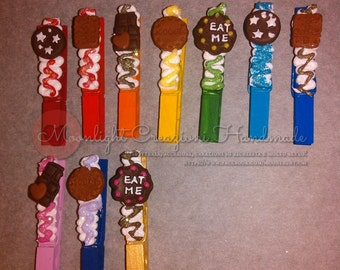 For Big order plase READ ALL - Wooden clothespins placeholder for important events
