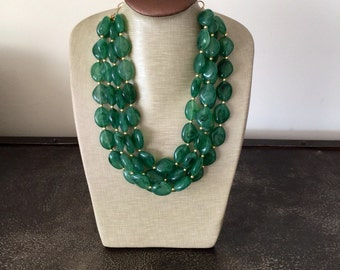 LIMITED EDITION Perfect Emerald Statement Necklace
