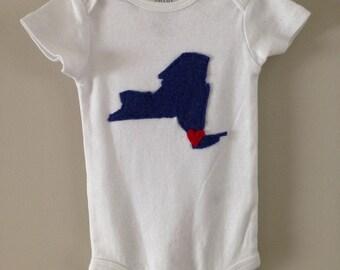 New York State, Love, Baby, Onesie, Gift,