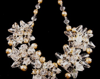 Rhinestone Necklace Earrings To Match Exceptional High End Vintage Costume Jewelry
