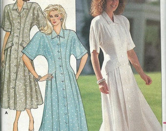 Butterick 4822 Ronnie Heller Misses Semi-Fitted and Flared Dress Pattern, Sizes 6-10, UNCUT