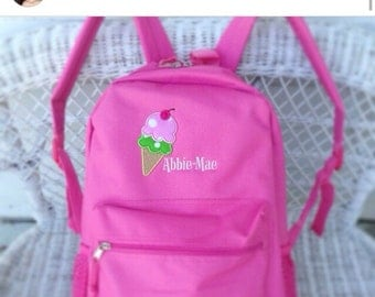 Personalised Ice Cream corn girl's backpack