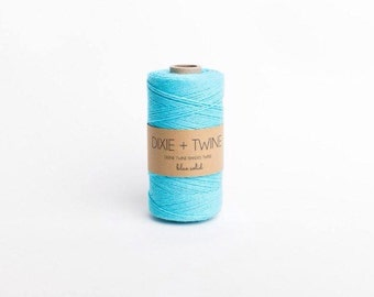 25 Yards Solid Aqua Divine Twine Baker's Twine/ Aqua Twine/ Bakers Twine/ Divine Twine/ Gift Wrap Twine/ Blue Twine/ Bakery Twine