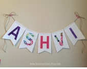 Personalized fabric name banner / Children's Room or Nursery Decor