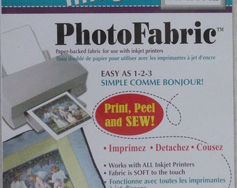 Photo fabric cotton poplin - create permanent images on fabric (5 sheets)