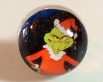 Grinch Ring - Christmas Ring - Christmas Jewelry - Grinch - Grinch Jewelry - Snow Globe Ring - The Grinch - Christmas iGifts - Ring
