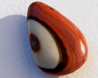 PICK ONE DRILLED Polychrome Jasper Eye Nugget Focal Pendant Bead in Natural Earthtones