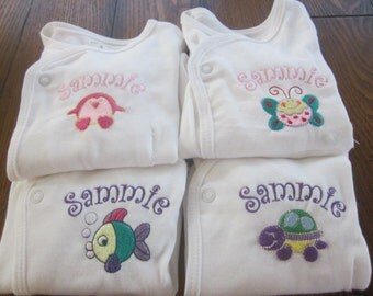 Baby clothing, baby side snap t- shirts, Long Sleeve or Short Sleeve, Customizable