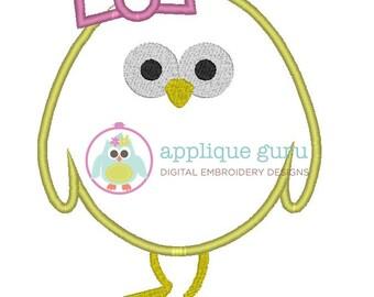 Chick Applique Machine Embroidery Design