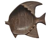 Metal Fish Sculpture Dish. Mid Century Modern. Japanese.