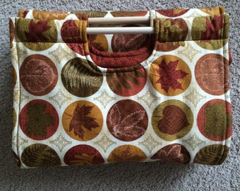 Insulated Casserole Carrier: Autumn Fall Leaves, Personalization Available