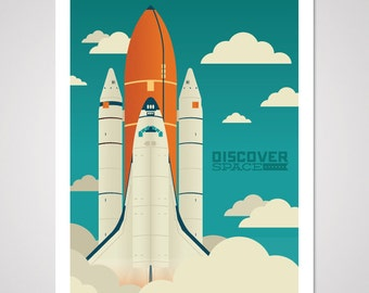 Discover Space - 18x24 Art Print