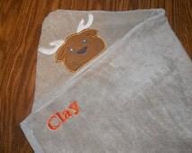Deer Hooded Towel, Personalized Hooded Towel, Camo Deer Kids hooded Towel, Personalized Gift, Bath Towel, Personalized Towel, Camo Decor