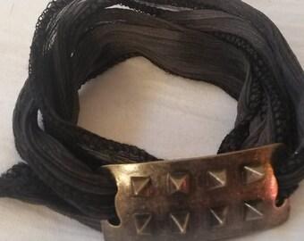 Silk bracelet. Silk wrap bracelet