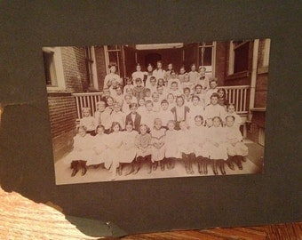 Turn of the Century Class Photo on Cabinet Card