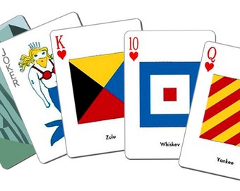 Signal Flag Poker Cards