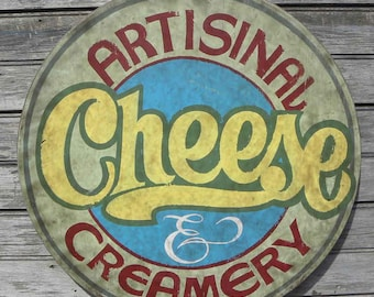 Artisinal Cheese & Creamery Sign, original, hand painted ZFC 2