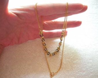 Raw Brass and Purple Chainmail Necklace, Handmade Chainmaille Jewelry, Gold Plated Vintage Chain, Raw Metal, Gift Under 75