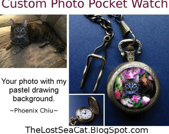 Custom Pocket Watch Custom Photo Pocket Watch For Men Pocket Watch Necklace For Women  Personalized Pocket Watch Gift for Dad Husband Wife