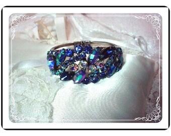 Blue D&E Clamper  -  Scrumptious Juliana Eye Candy Bracelet   Brac-338a-020209115