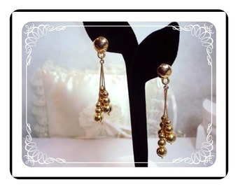 Shoulder Duster Clip-On Earrings - Classical Dangliing Bead  -  E211a-040812000