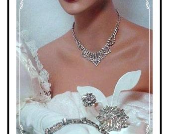 Juliana Rhinestone Parure - Unique Vintage Blazing Hot Clear D&E  Para 538a-060807110