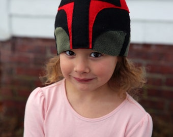 Boba Fett Fleece and Hand Stitched Felt Hat