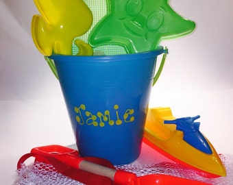 Beach bucket Play Set W/ mesh backpack