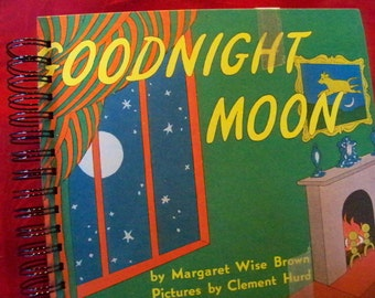 Goodnight Moon blank book diary journal upcycled from vintage children's classic