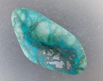 Malachite Chrysocolla freeform Cabochon