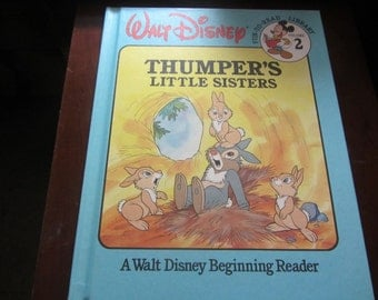 Vintage Thumper's Little Sisters Disney Fun-To-Read Vol. 2 1986 Hardback