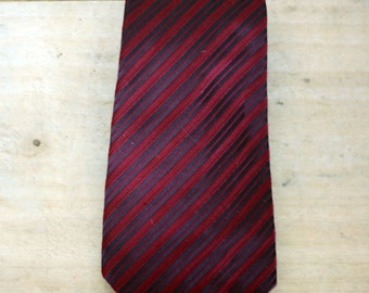 vintage burgundy striped tie by damon for daytons mens store
